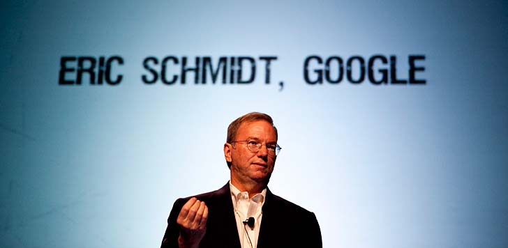 "Eric Schmidt på konferensen ""Techcrunch Disrupt"" i San Francisco. Foto: Techcrunch/flickr"