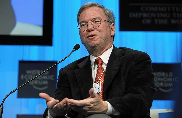 Eric Schmidt, vd Google. Foto: World Economic Forum/flickr