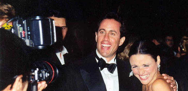 Jerry Seinfeld och Julia Louis Dreyfuss på Emmy-galan 1997. Foto: Alan Light/flickr