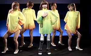 Japansk robot nästa dansstjärna? Bild från video