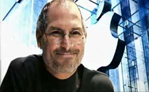 En timme med Steve Jobs. Bild från video