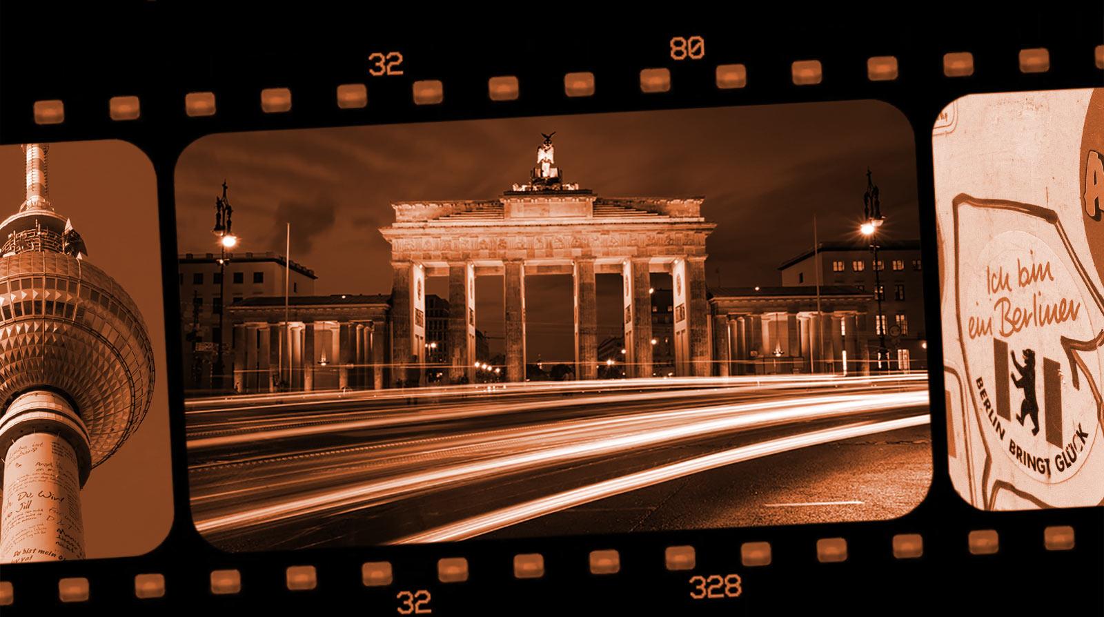Berlin på film. Kollage: Coohl
